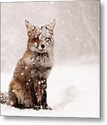 Fairytale Fox _ Red Fox In A Snow Storm Metal Print