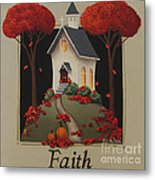 Faith Country Church Metal Print