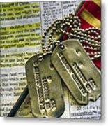 Faith Service Patriotism Metal Print