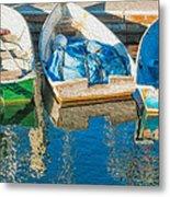 Faithful Working Boats Metal Print