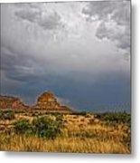 Fajada Butte Storm Metal Print