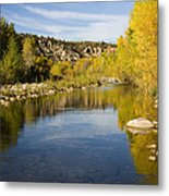 Fall Along River Sierra Ancha Metal Print