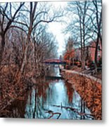 Fall Along The Delaware Canal Metal Print