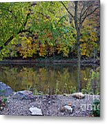 Fall Along The Scioto River Metal Print