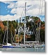 Fall And The Sailboats Metal Print