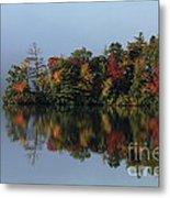 Fall At Heart Pond Metal Print