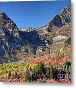 Fall At Mt. Timpanogos From Sundance - Utah  Metal Print