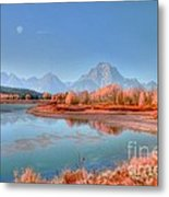 Fall At Oxbow Bend Metal Print