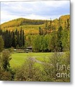 Fall At The Course Metal Print