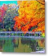 Fall At The Lake Metal Print