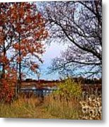 Fall At West Park Pond Metal Print