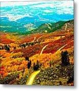 Fall Carpet At Lands End Metal Print