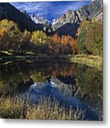 Fall Color And Reflection Below Middle Palisades Glacier California Metal Print