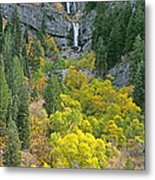 Fall Color And Waterfalls In Provo Canyon Utah Metal Print