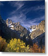 Fall Color Below Middle Palisades Glacier Eastern Sierras California Metal Print