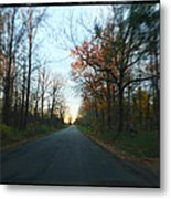 Fall Color Blur Metal Print