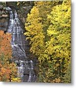 Fall Color Surrounds Chapel Falls On The Michigan Upper Peninsula Metal Print