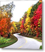 Fall Colors Along The Blueridge Parkway Metal Print