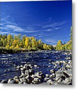 Fall Colors Along The Naches River Metal Print