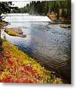 Fall Colors And Waterfalls Metal Print