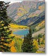 Fall Colors At Maroon Lake Metal Print