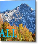 Fall Colors Cover Work Metal Print