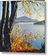 Fall Colors Frame Whiteface Mountain Metal Print