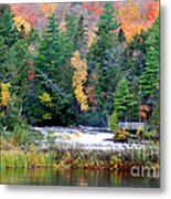 Fall Colors On The  Tahquamenon River   Metal Print