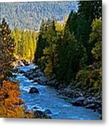 Fall Colors On The Wenatchee River Metal Print