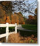 Fall Comes To The Hollow Metal Print