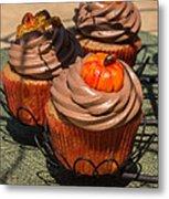 Fall Cupcakes Metal Print