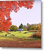 Fall Farm Metal Print