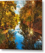 Fall Filtered Reflections Metal Print by Sylvia J Zarco