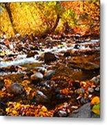 Fall Flow At Mcgee Creek Metal Print