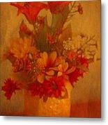 Fall Flower Bouquet Metal Print