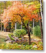 Fall Folage And Pond 2 Metal Print