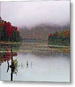 Fall Foliage Reflections In Northern Vermont Metal Print
