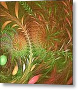 Fall Fractal Fields Metal Print