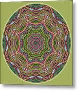 Fall Grass Mandala Metal Print