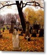 Fall Graveyard  Metal Print
