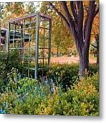 Fall Herb Garden0981 Metal Print