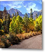 Fall Hiking In The High Sierras Metal Print