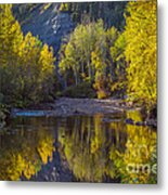 Autumn Reflections In Fort Mcmurray Metal Print