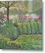 Fall In Monet's Garden Metal Print