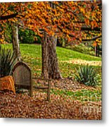 Fall In The Gardens Metal Print