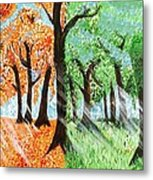 Fall Into Spring Metal Print