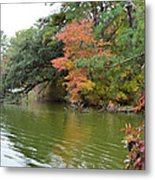 Fall Landscape Around The Lake 2 Metal Print
