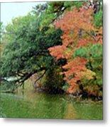Fall Landscape Around The Lake 5 Metal Print