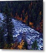 Lower Mesa Falls Metal Print