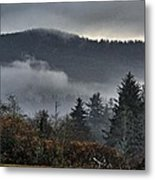 Fall Low Clouds And Fog Metal Print